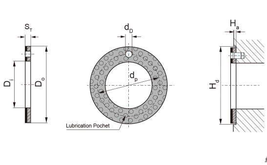 MG-2Y WC InchThrust washer Specication & Tolerance